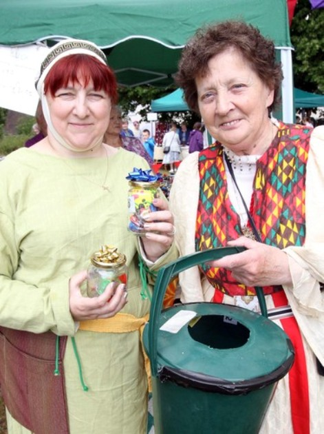 Jacquie Harman and Elsie Wiltshire run 'Pot Luck' at the fayre