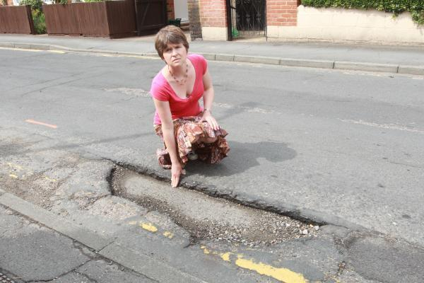 Helen Waring from Witham hit this pothole in Church Street