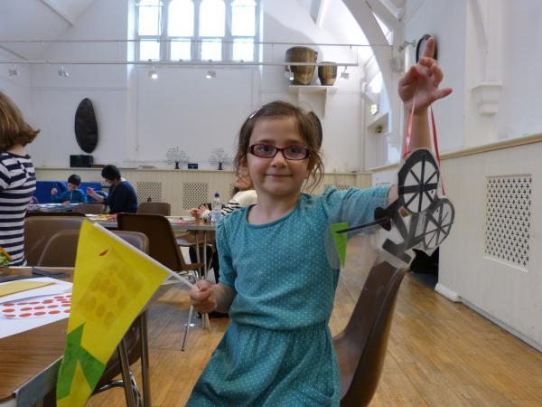 Young visitors to Braintree Museum made flags for Tour de France's visit