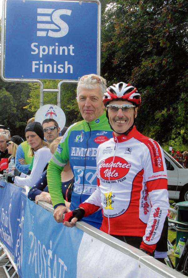 Braintree Velo's Chris Broadway (right). Picture: ADRIAN RUSHTON