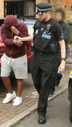 A man arrested in north London.