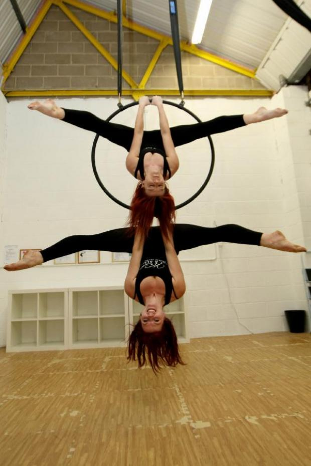 Braintree and Witham Times: Kaiya Latham and Steph Ryder show off their circus skills