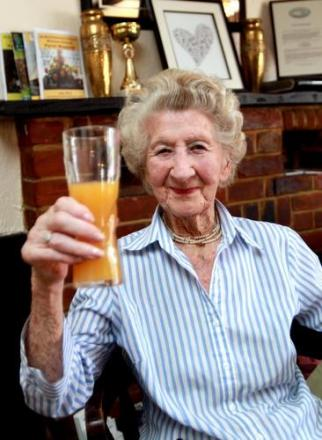 'Oldest lady in Wickham Bishops' toasts 103rd birthday at her local
