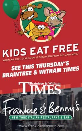 Children eat free at Frankie and Benny's