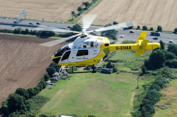 One man was airlifted to hospital following a three car collision