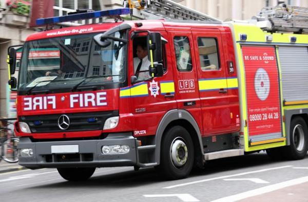 Occupants come home to flat fire