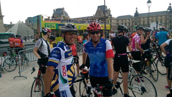 Duo complete London to Paris cycle ride for charity