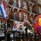 Braintree and Witham Times: Flowers outside the Dutch Embassy in London to remember the passengers who were killed on Malaysian Flight MH17