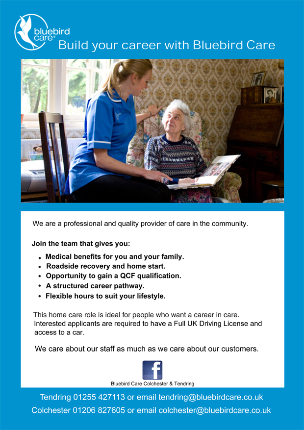 Braintree and Witham Times: Bluebird Care