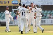 Plenty to be happy about - David Masters was among the wickets for Essex on the opening day of their crucial match against Worcestershire, at Chelmsford.