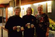 Gill Minns and Jane Madge with captain Fiona Prentice.
