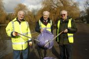 Witham's River Walk cleaner thanks to trio