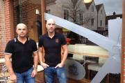 Kevin Gooday and Charbel Chami outside Yumy cafe