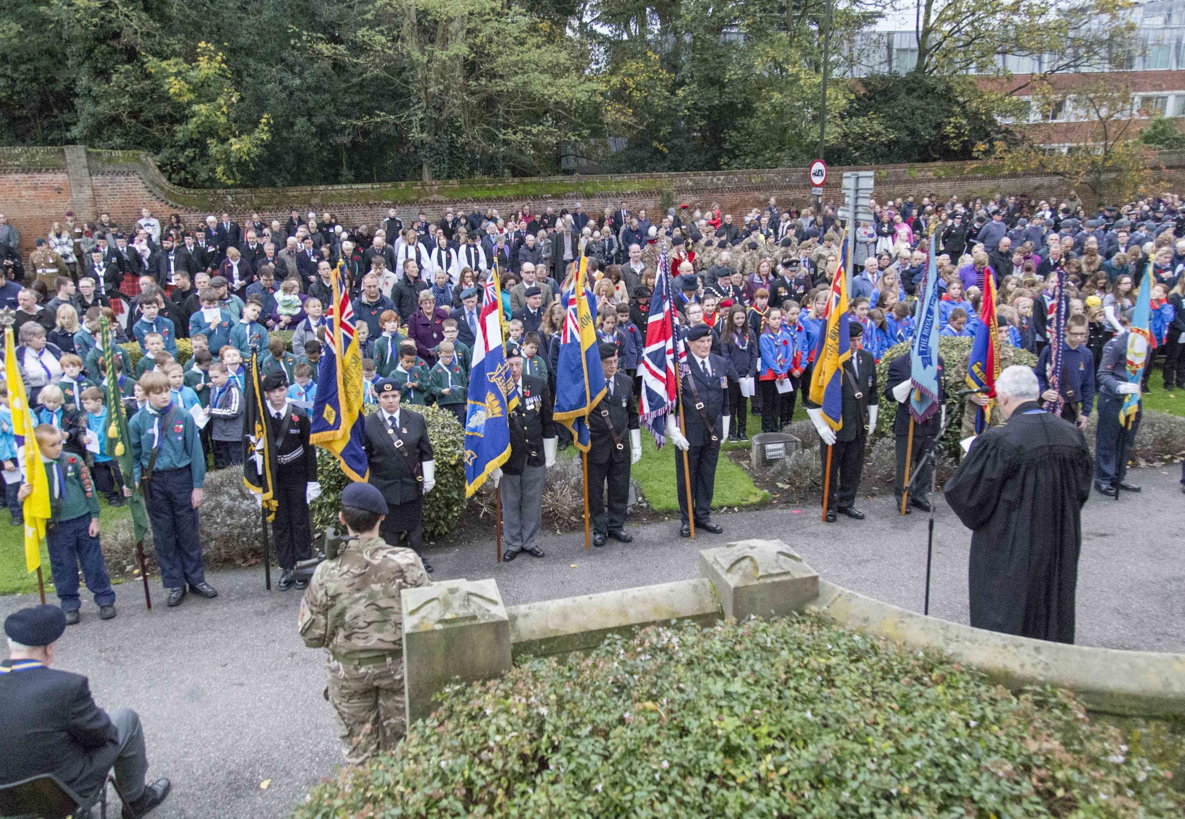 Witham pays Remembrance Sunday tribute