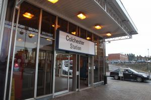 Man dies after he is struck by a train at Colchester