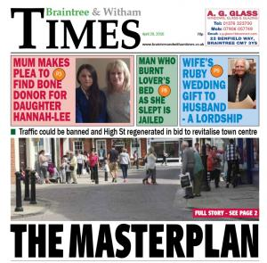 Braintree and Witham Times: In this week's Braintree Times: The masterplan
