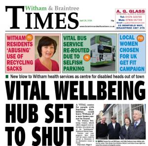 Braintree and Witham Times: In this week's Witham Times: Vital wellbeing hub set to shut