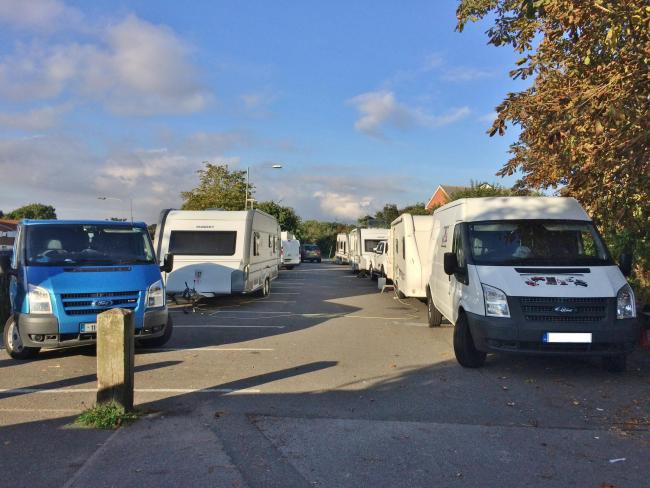 d890498074 Travellers have set up another unauthorised encampment in Station ...