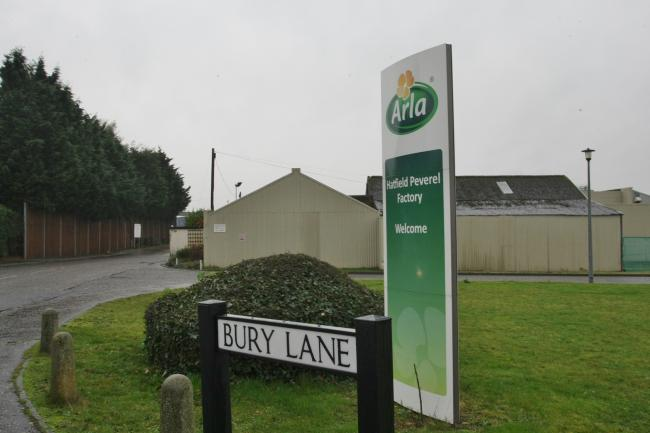 The former Arla Dairy site in Bury Lane, Hatfield Peverel