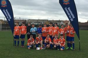 Charlie Batten opened the scoring for Braintree on their way to a 2-0 win against Thurrock in the Cordell Cup final.