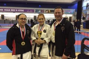 The Martial Arts Centre team won gold in the black belt Kata at the AMA International Karate Open Championship in Sheffield