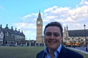 Will Quince- Outside parliament this week