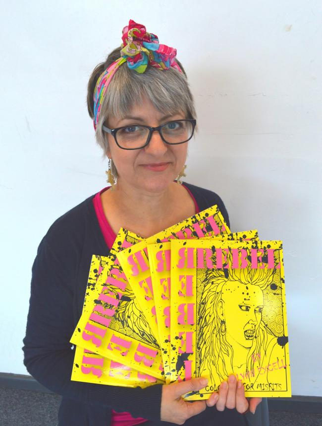 PUNK: Artist Lynn Excell, of Great Leighs, has designed her own punk colouring book