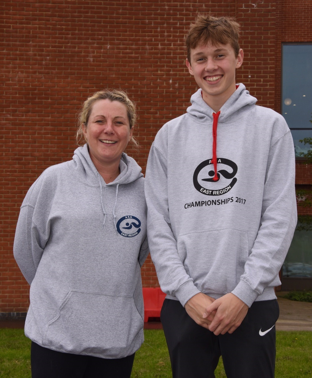 Braintree and Bocking head coach Erica Johnson (left) with Charles Rennie