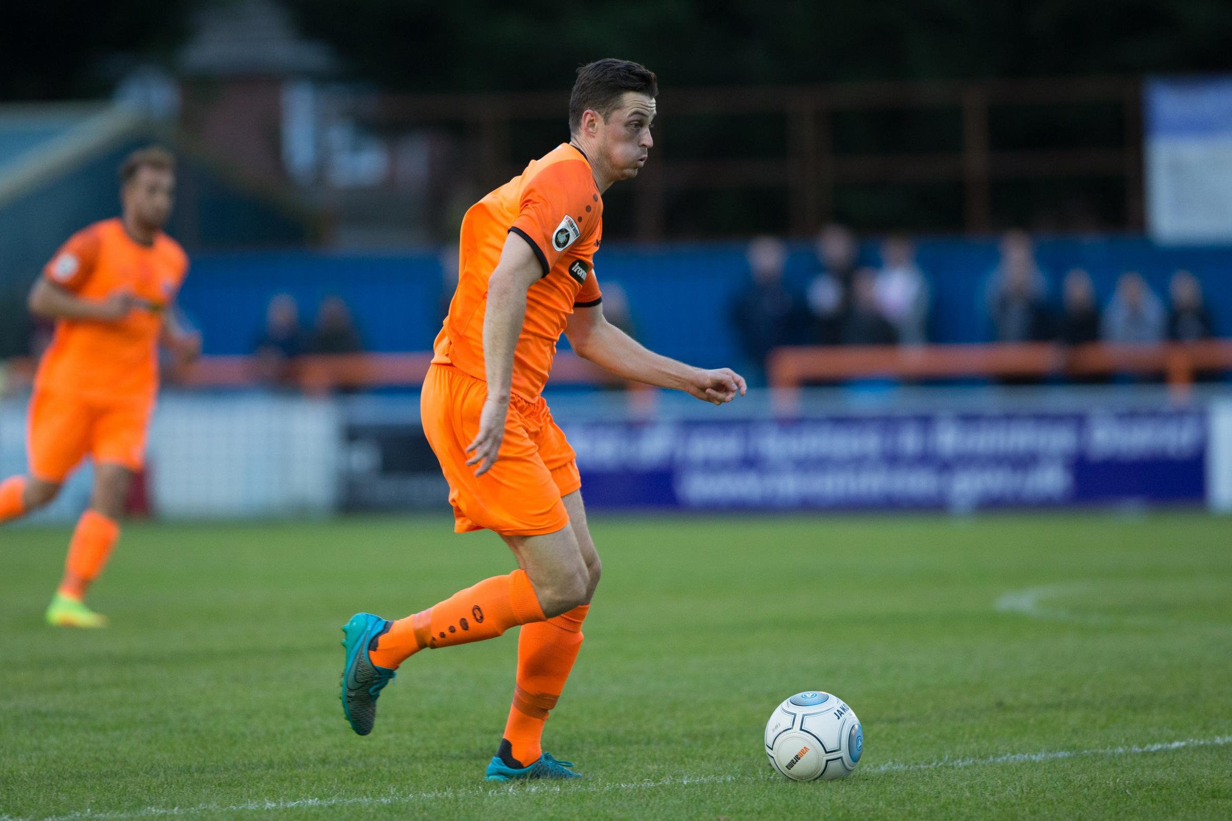 Luke Allen is getting close to a return for Braintree Town and manager Brad Quinton feels there's a chance he may be fit to face Eastbourne Borough. Picture: Chris Jarvis