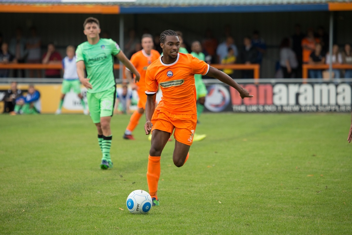 Dernell Wynter scored within 20 seconds of the start of Braintree Town's game against Bognor Regis Town. Picture: Chris Jarvis