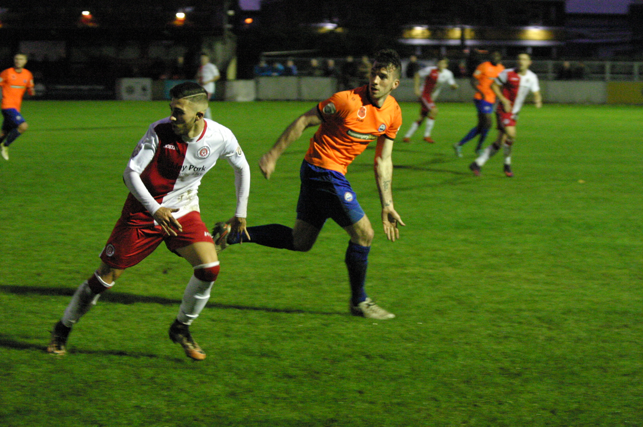 Joe Ellul impressed on his debut for Braintree Town at Poole Town. Picture: Jon Weaver