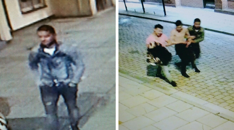 Officers want to identify and speak to the three men pictured