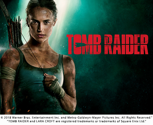 5 winners will receive a pair of tickets to see the film Tomb Raider