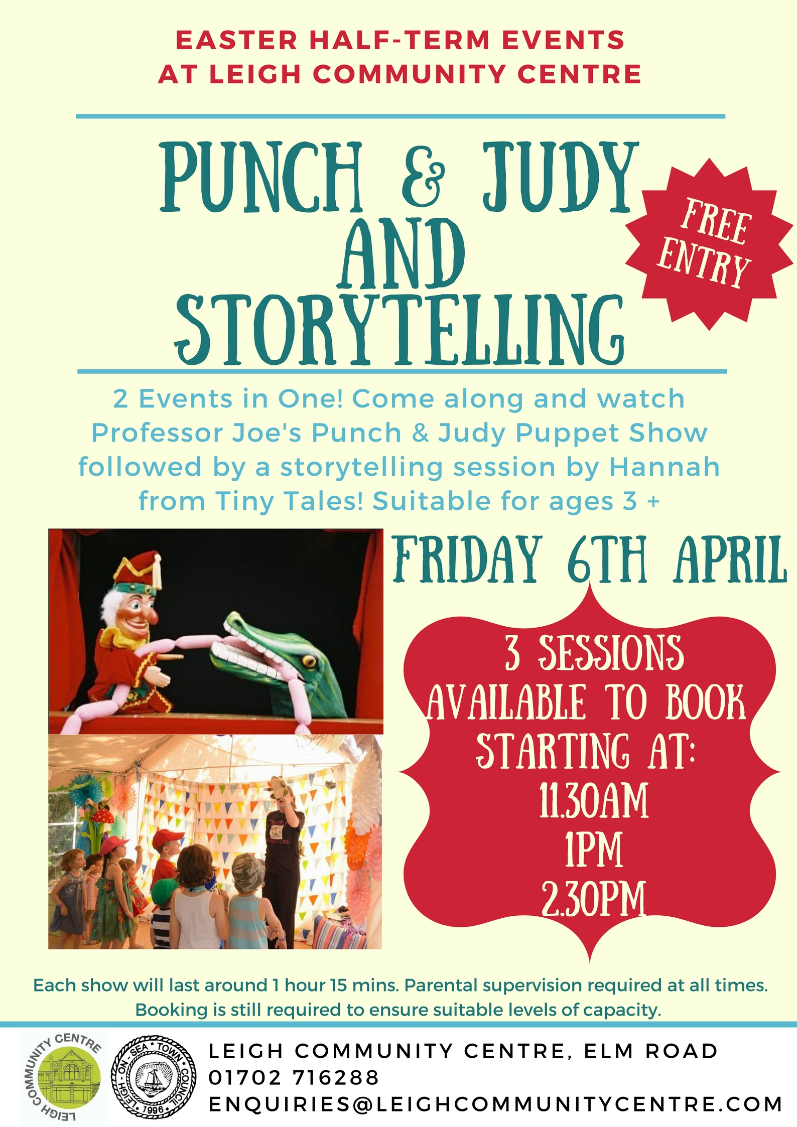 Punch & Judy and Storytelling FREE Event