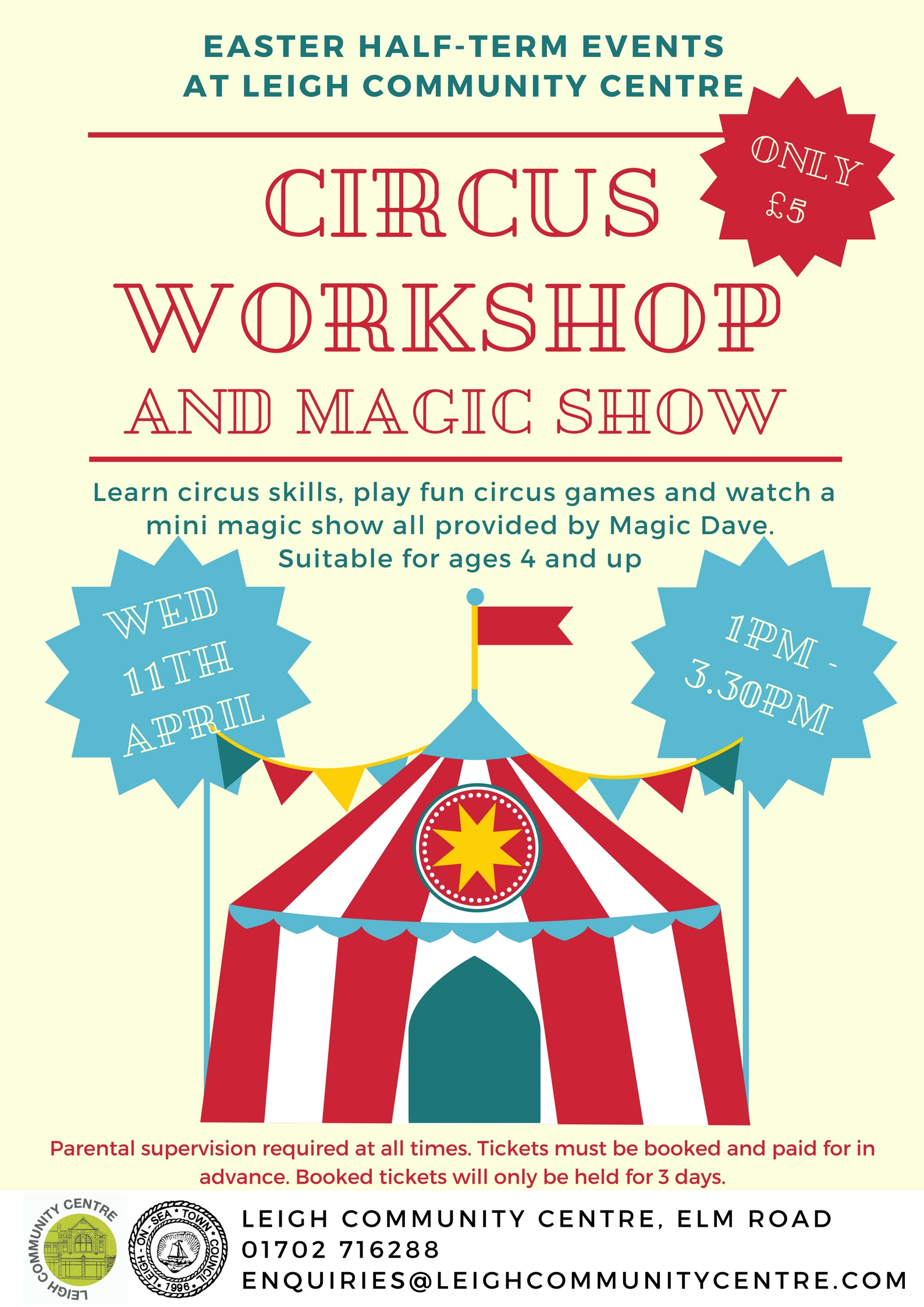 Circus Workshop and Magic Show