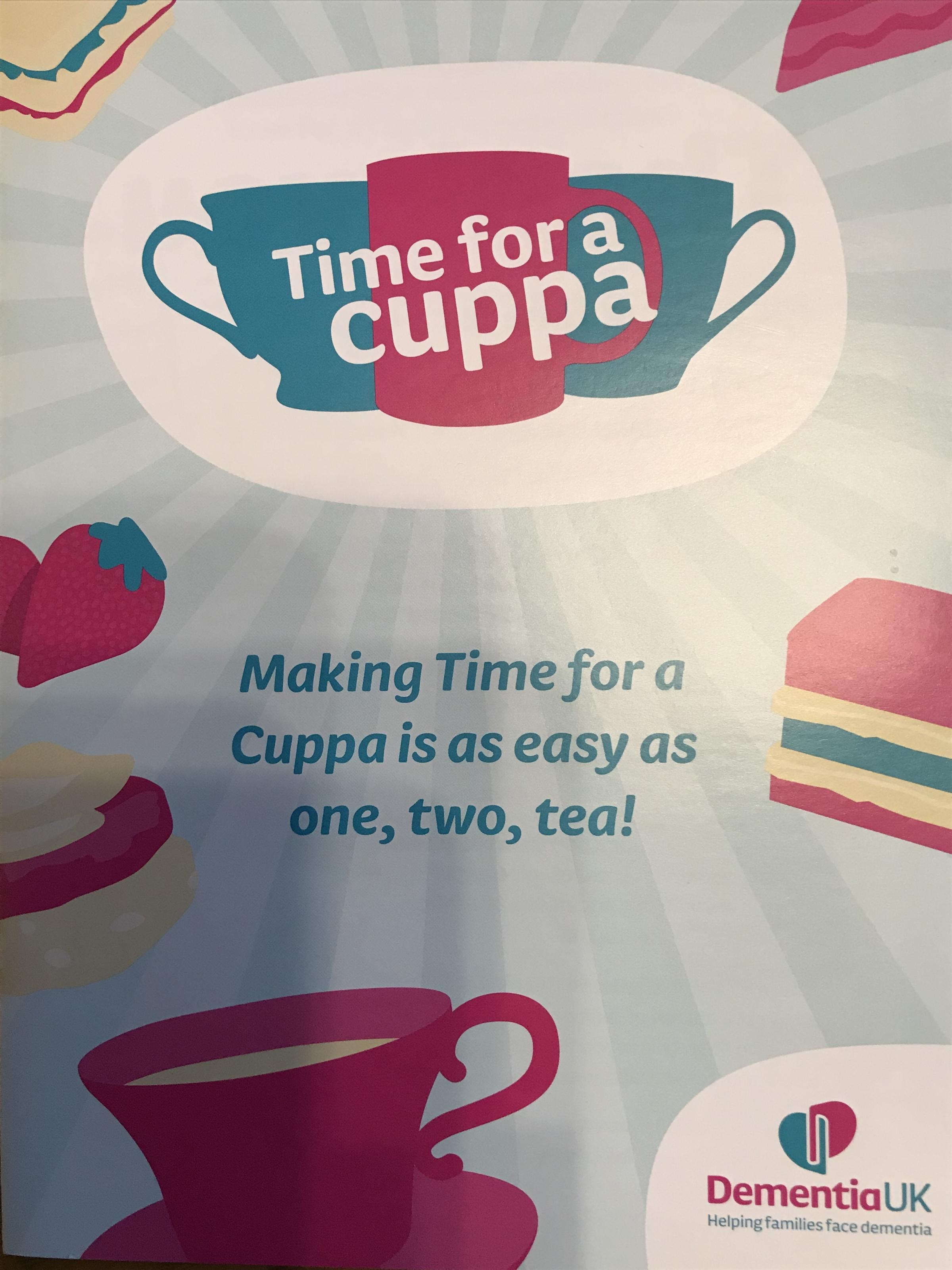 Dementia UK 'Time for a Cuppa' fundraiser