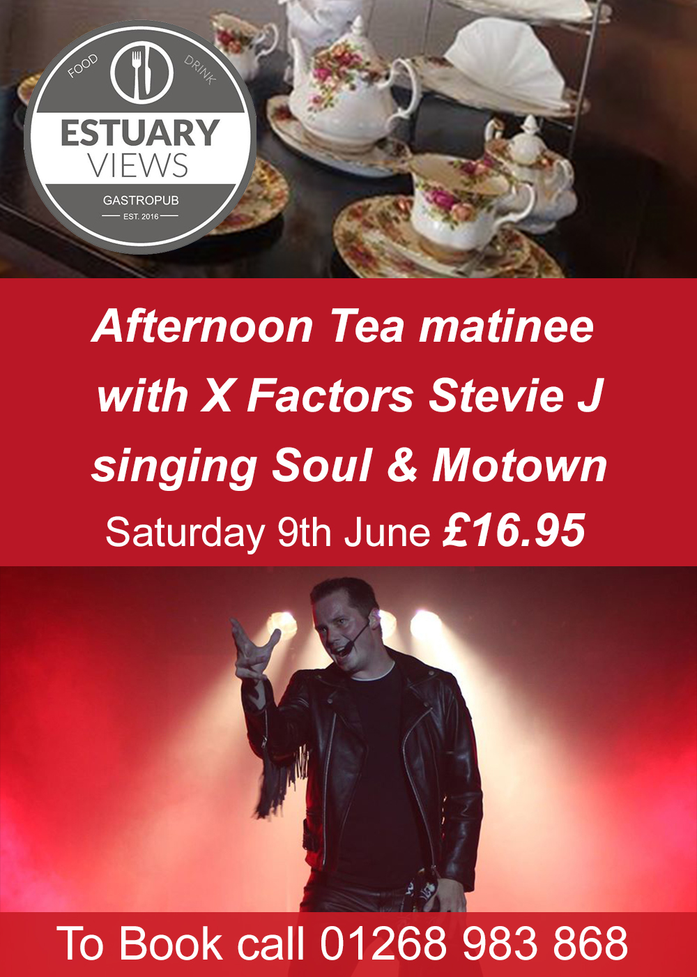 Soul/Motown Afternoon Tea Matinee with X Factors Stevie J