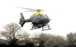 The police helicopter was called out to look for the driver of a stolen van