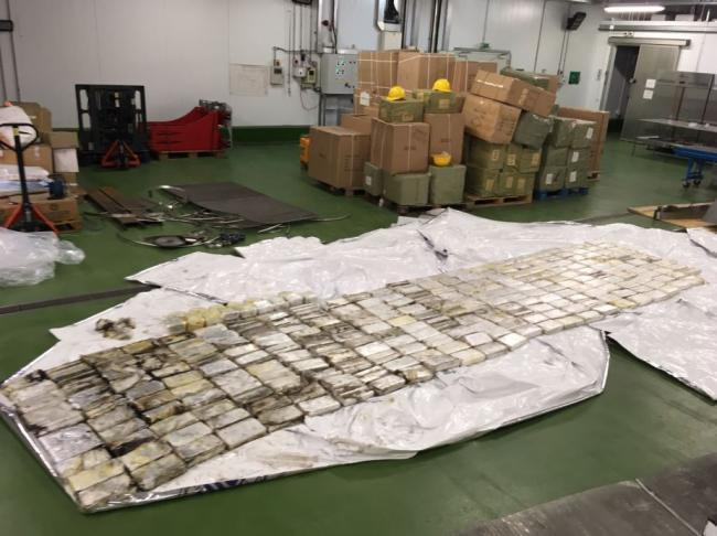 Some find - £22million pounds worth of cocaine and crystal meth intercepted at the superport, Corringham