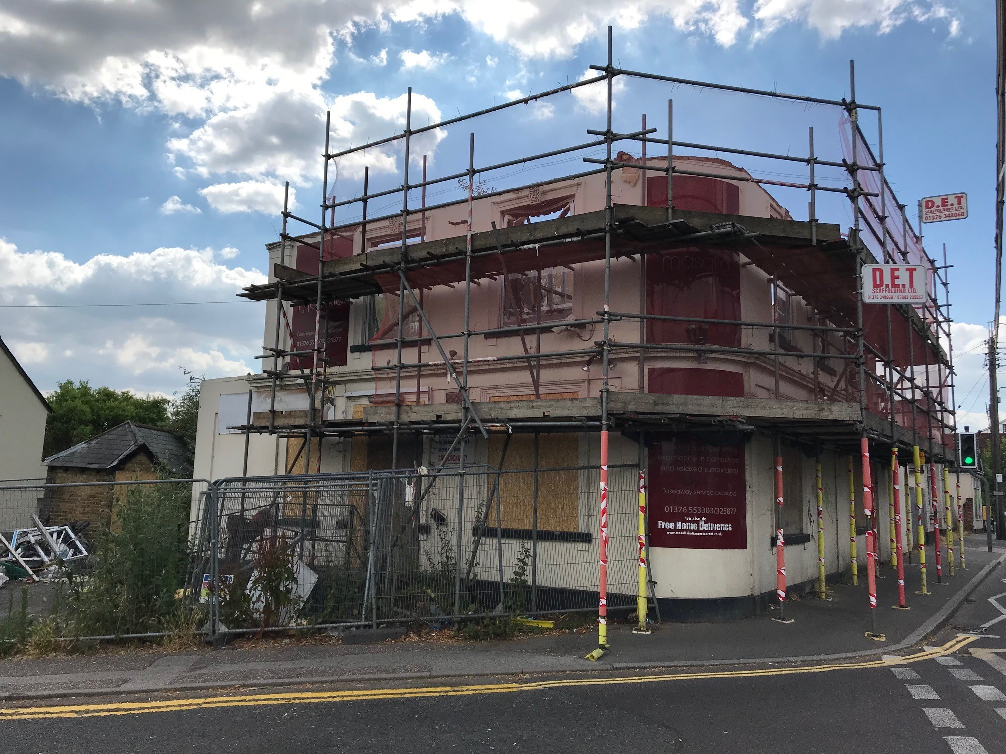 DERELICT: The former premises of Masalla, in South Street, Braintree