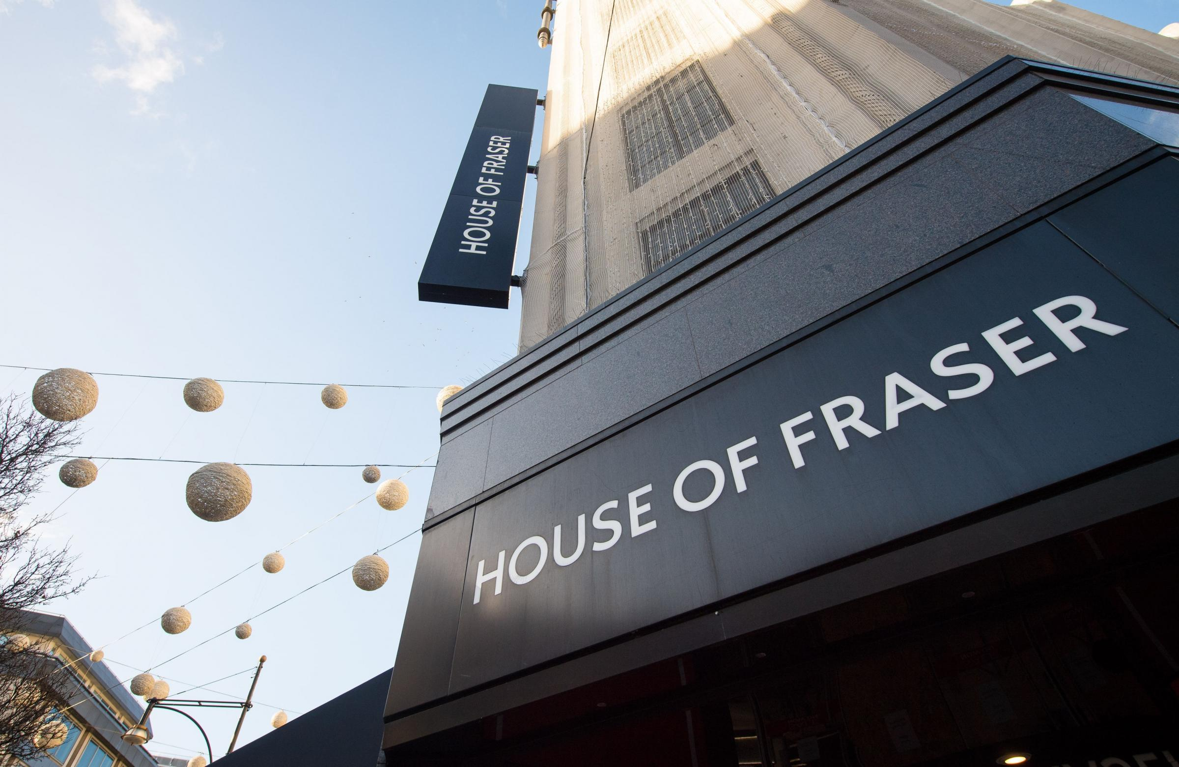 House of Fraser in administration risking 17,000 jobs