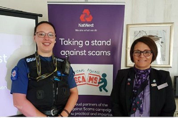 PCSO Jo Macmillan and Amanda Lawrence