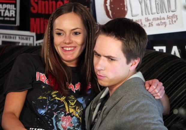 Braintree and Witham Times: On and off screen couple- Joe and fiance Hannah Tointon in The Inbetweeners.