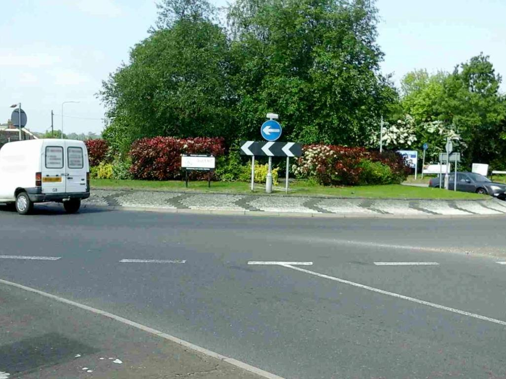 GRIDLOCK: The roundabout at the entrance to Springwood Drive Industrial Estate. Picture: Essex Highways
