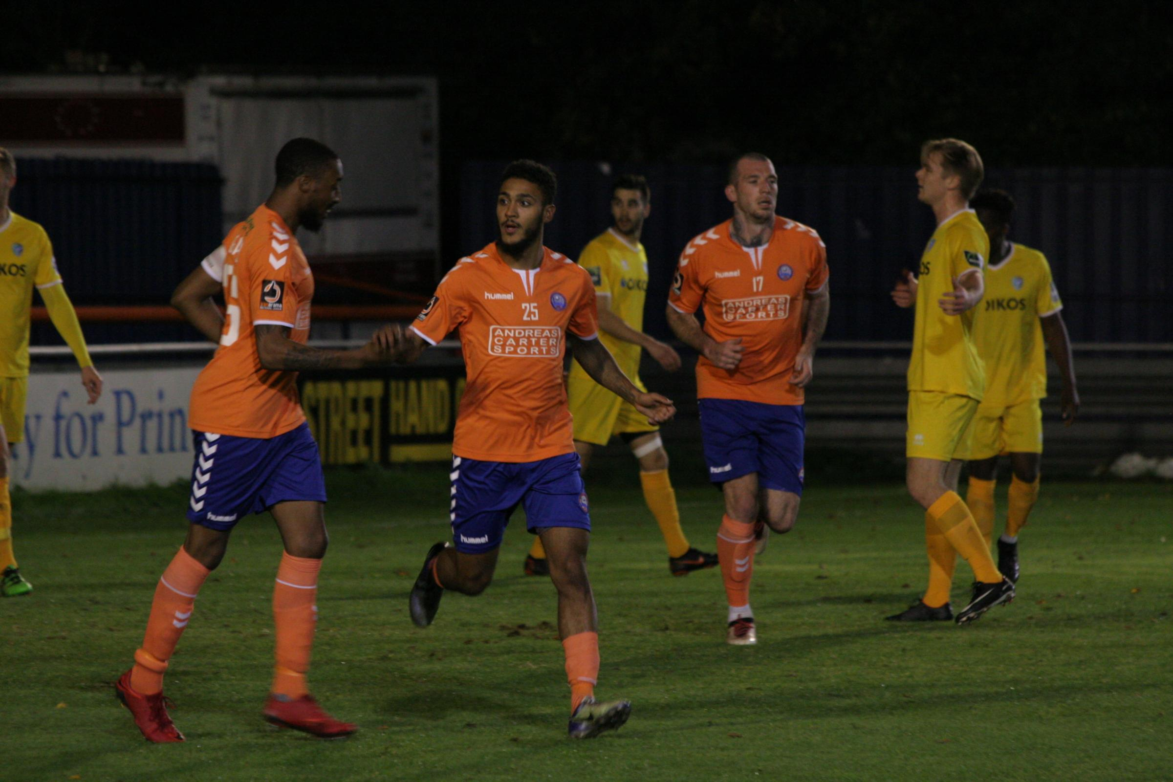 Reece Grant scored a first-half hat-trick for Braintree. Picture: Jon Weaver