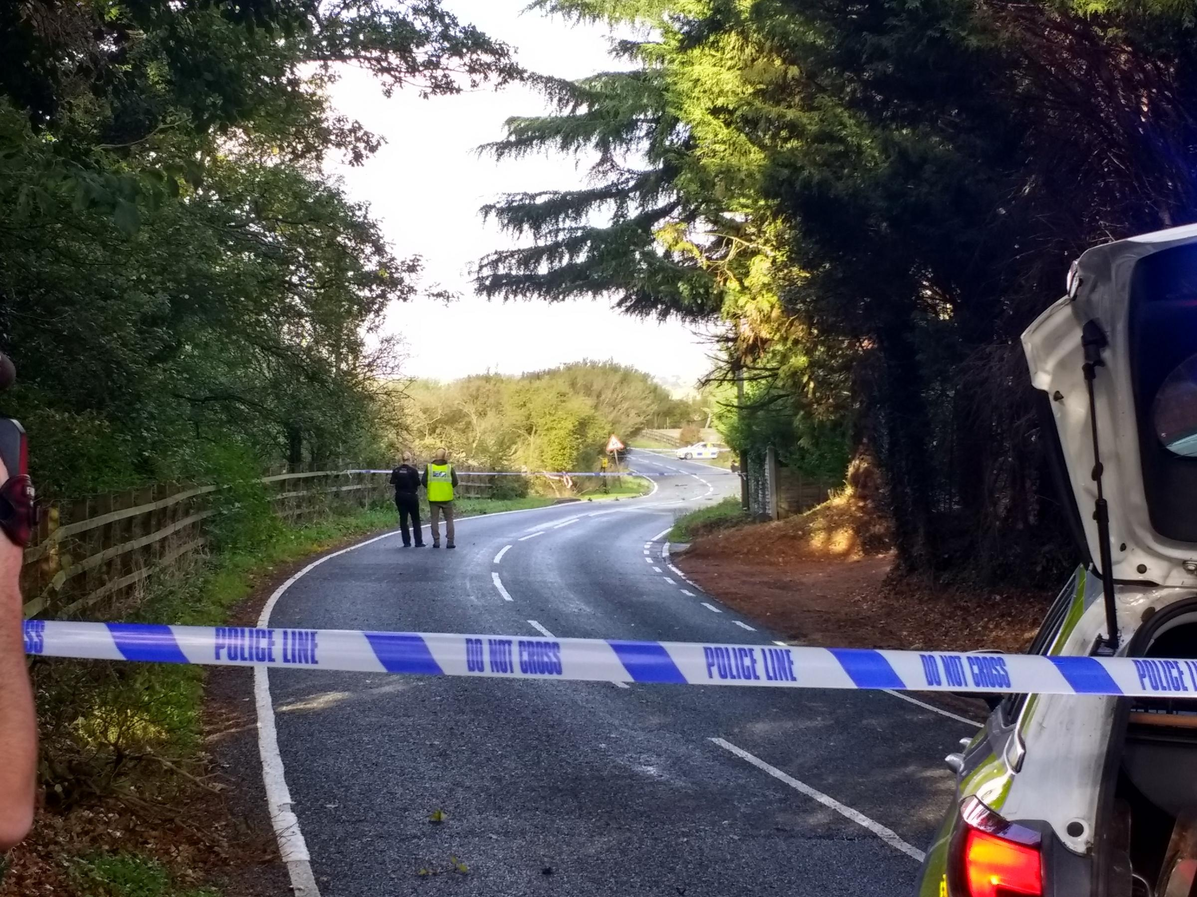 Fatal crash in Blue Mills Hill, Wickham Bishops