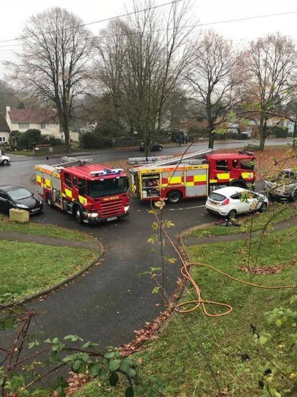 Scene: Fire engines outside the house Picture: Essex County Fire and Rescue Service
