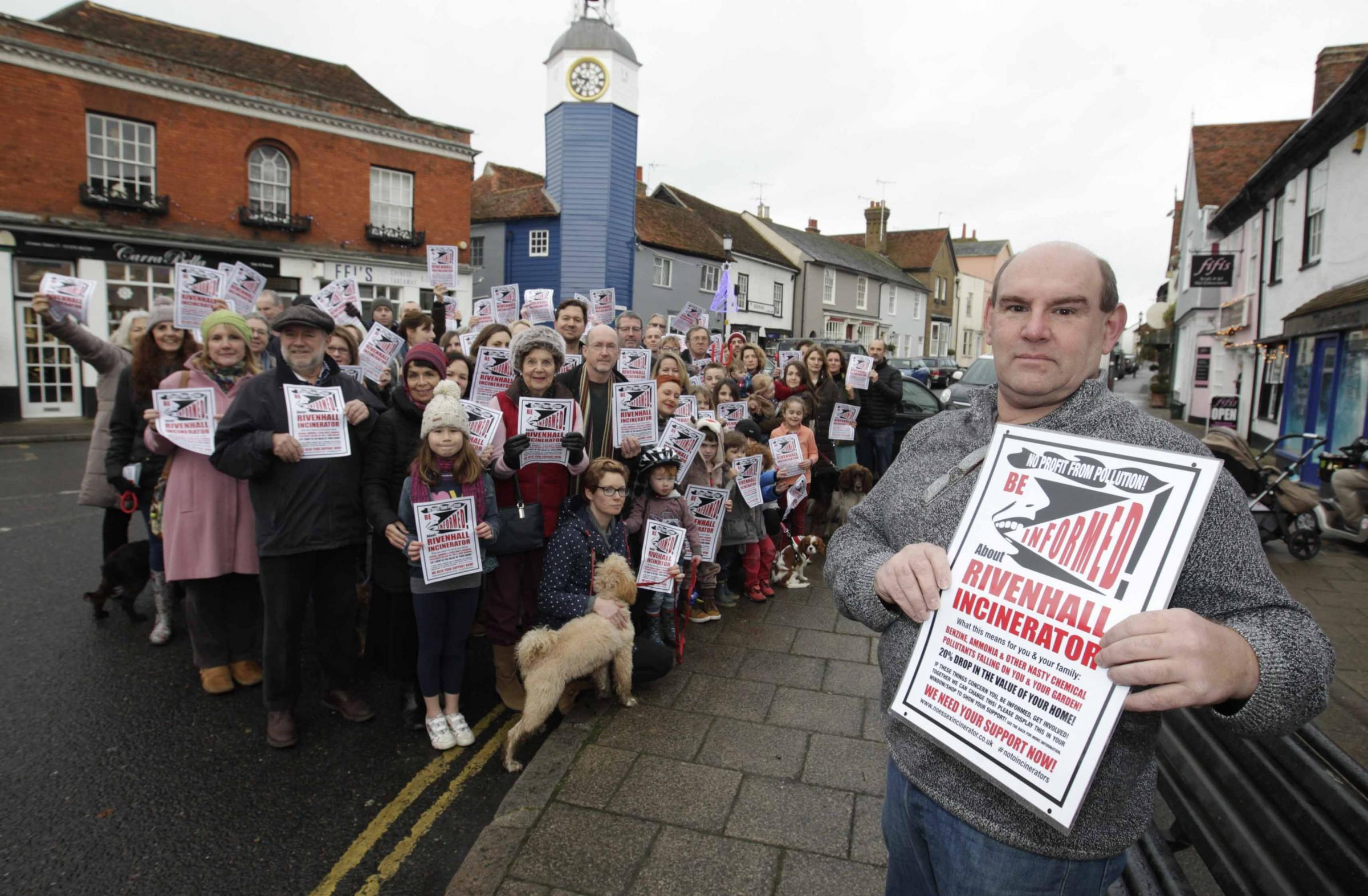 Fighting back: Nick Unworth with other protesters