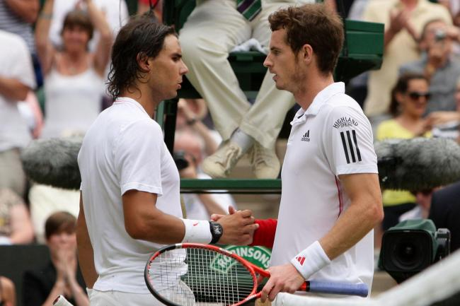 Andy Murray, right, and Rafael Nadal