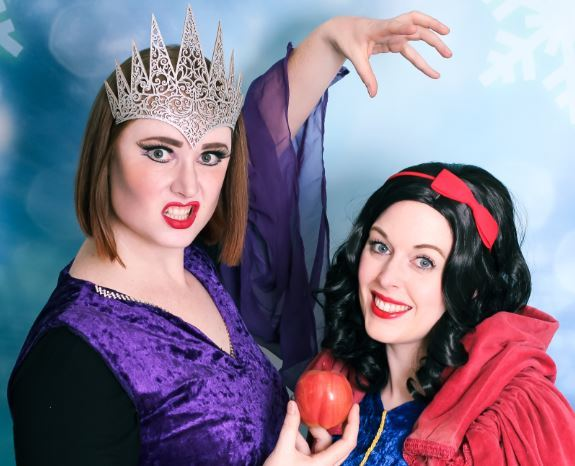 Pantomime stars: Clare Ryan as Queen Evilynn and Tash Crossley as Snow White in Pantoloons' forthcoming production in Braintree
